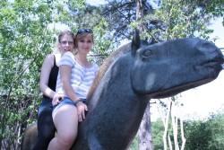 Milena&Verka na koni