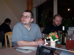 Ales a Radek u vecere