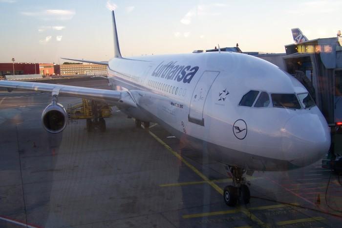 Ve Frankfurtu na letisti