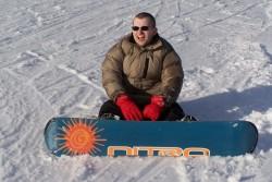 Klasicka pozice snowboardaka
